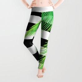 Simply Tropical Stripes Leggings