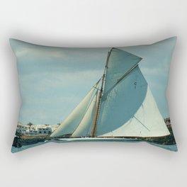 Classic Sailing Yacht Rectangular Pillow