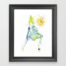 Sitting in the Sun Framed Art Print
