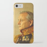 fashion illustration iPhone & iPod Cases featuring Bill Murray - replaceface by replaceface