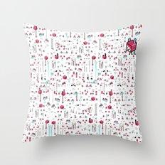 8bit Love Throw Pillow