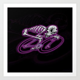 Skeletoon Roadie - Purple Art Print