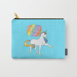 Light blue Unicorn Carry-All Pouch