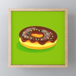 Chocolate Donut Framed Mini Art Print
