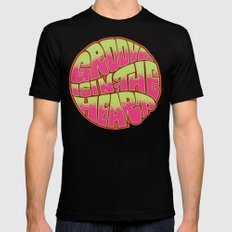 Groove is in the Heart Black MEDIUM Mens Fitted Tee