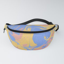 Yellow & blue paint Fanny Pack