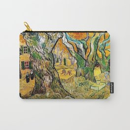 Road Works at Saint-Remy by Vincent van Gogh Carry-All Pouch