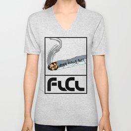 FLCL Never Knows Best Cigarette Unisex V-Neck