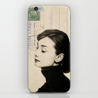 nori iPhone & iPod Skins featuring Audrey by NORI