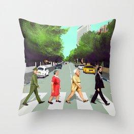 A(llen)bby road - TLV Throw Pillow