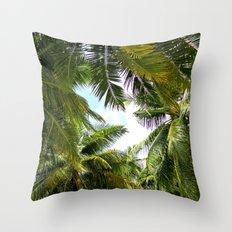 Maldivian palm Throw Pillow