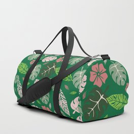 Tropical leaves green paradise #homedecor #apparel #tropical Duffle Bag