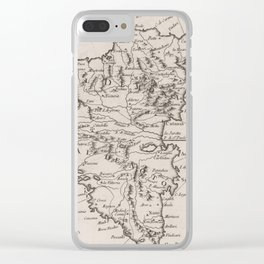 Vintage Map of Sicily Italy (1764) Clear iPhone Case