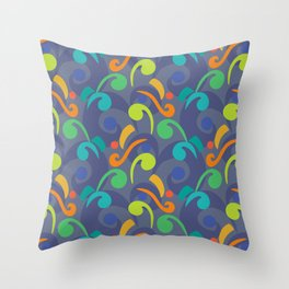 Music Abstract Pattern Throw Pillow