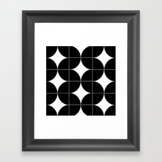 Modular Black and White Repeated Pattern Design Framed Art Print