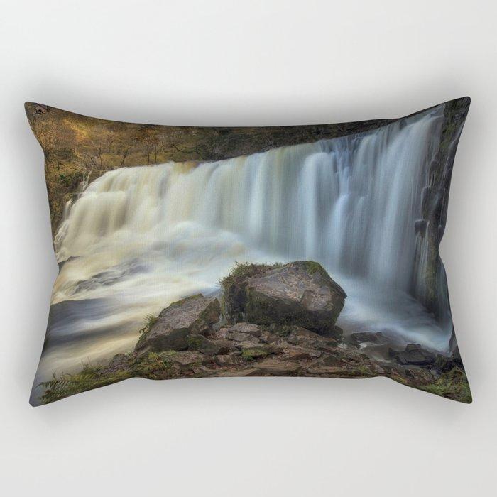 Sgwd Isaf Clun-gwyn Falls Rectangular Pillow