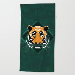 Tiger's day Beach Towel