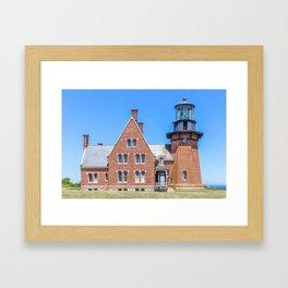 New England Lighthouse, Rhode Island, Block Island Framed Art Print
