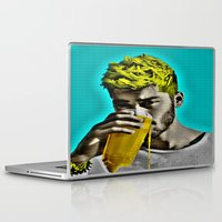 zayn malik Laptop & iPad Skins featuring Zayn Malik Pop Art by Indigo Blues