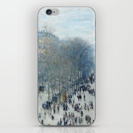 Claude Monet - Boulevard des Capucines, 1873 iPhone Skin