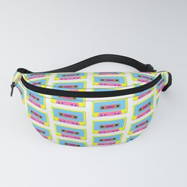 Cassette Tape Pattern Fanny Pack