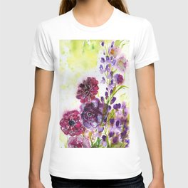 purple dream with flowers T-shirt
