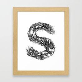 The Illustrated S Framed Art Print