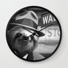 The Sloth of Wall Street Wall Clock