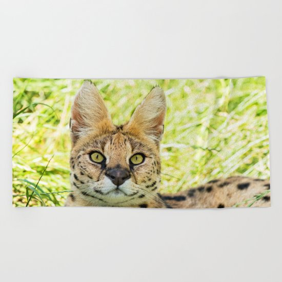 SERVAL BEAUTY Beach Towel