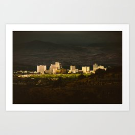 Downtown Reno Skyline Art Print