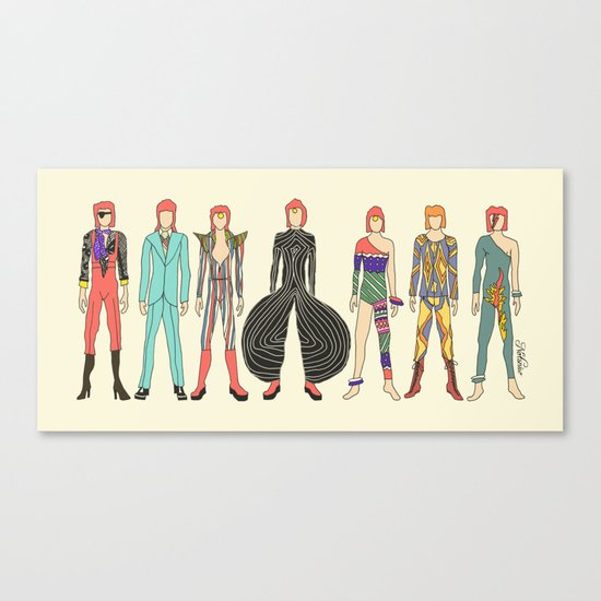 7 Red Head Bowies Canvas Print