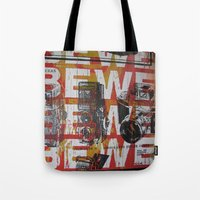 cameras Tote Bags featuring Cameras by Print Mafia
