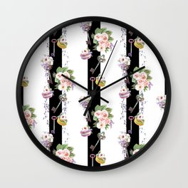 French strips Wall Clock