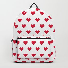 Red Rows Sweet Hearts Backpack