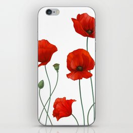 Poppy Stems iPhone Skin