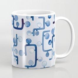 Blue Watercolour Zig Zag Coffee Mug