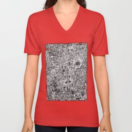 Zombies...  Pop Line art collage piece. More of The Walking Dead than you can handle! Unisex V-Neck