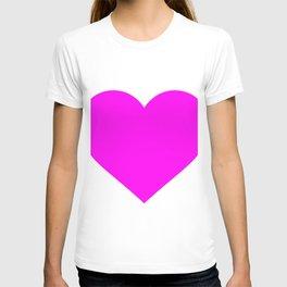 Heart (Magenta & White) T-shirt