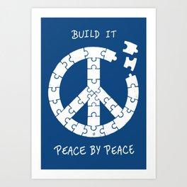 Peace By Peace Art Print