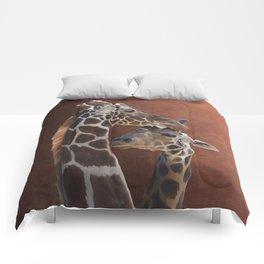 Endearing Giraffes Comforters