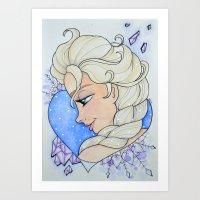 Elsa - Time has been Frozen Art Print