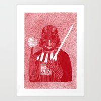 darth vader Art Prints featuring Darth Vader by David Penela