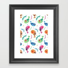 The Happy Fish Pattern Framed Art Print