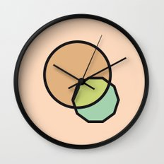 Shapes Illustration Wall Clock