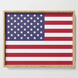 National flag of the USA - Authentic G-spec scale & colors Serving Tray