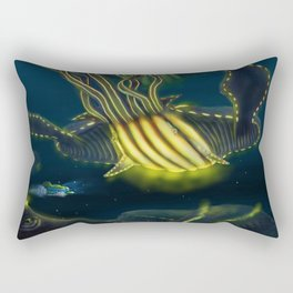 Deep Sea Encounter Rectangular Pillow