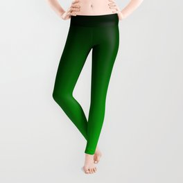 Black and Lime Gradient Leggings