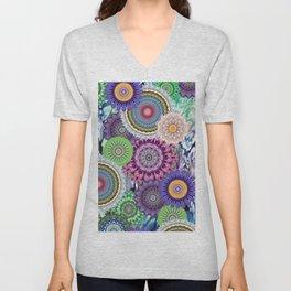 geometric and ethnic background pattern  Unisex V-Neck