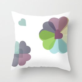 Heartflowers1 Throw Pillow