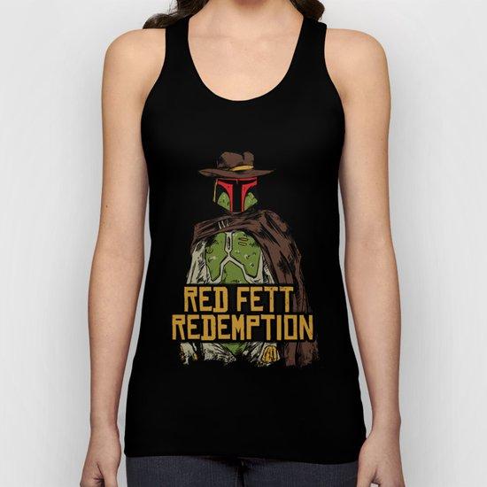 Red Fett Redemption Unisex Tank Top